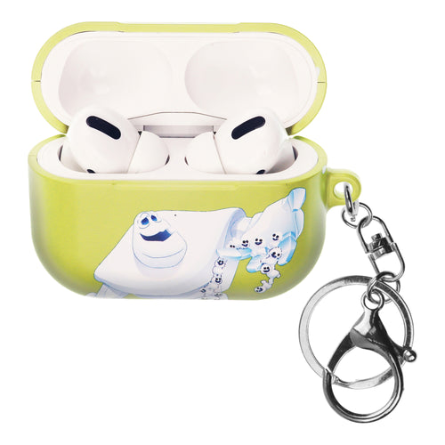 Disney Frozen AirPods Pro Case Key Ring Keychain Key Holder Hard PC Shell Strap Hole Cover - Snow Marshmallow
