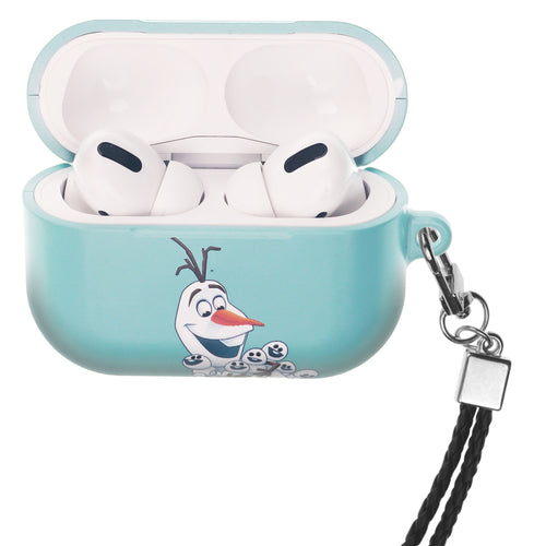 Disney Frozen AirPods Pro Case Neck Lanyard Hard PC Shell Strap Hole Cover - Snow Olaf