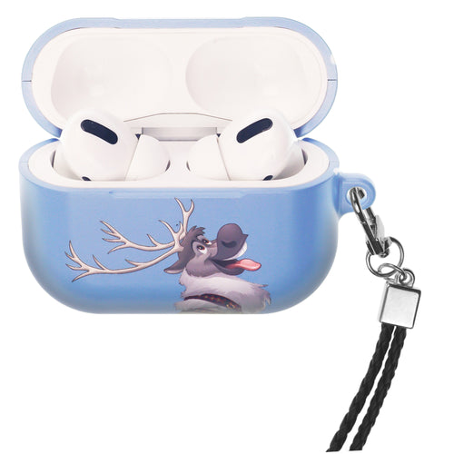 Disney Frozen AirPods Pro Case Neck Lanyard Hard PC Shell Strap Hole Cover - Snow Sven