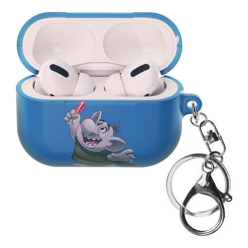 Disney Frozen AirPods Pro Case Key Ring Keychain Key Holder Hard PC Shell Strap Hole Cover - Snow Troll