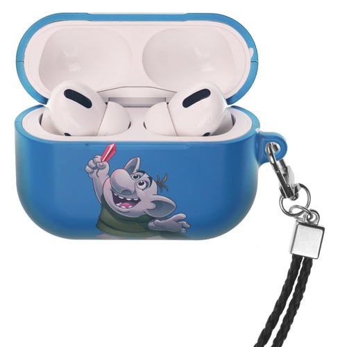 Disney Frozen AirPods Pro Case Neck Lanyard Hard PC Shell Strap Hole Cover - Snow Troll
