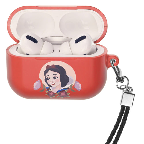 Disney Princess AirPods Pro Case Neck Lanyard Hard PC Shell Strap Hole Cover - Snow White