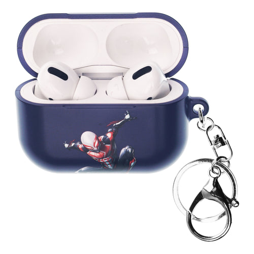 Marvel AirPods Pro Case Key Ring Keychain Key Holder Hard PC Shell Strap Hole Cover - Spider Man Purple