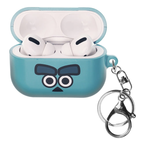 Disney AirPods Pro Case Key Ring Keychain Key Holder Hard PC Shell Strap Hole Cover - Monsters Eye Sulley