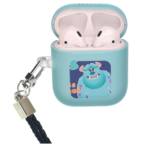 Disney AirPods Case Neck Lanyard Protective Hard PC Shell Strap Hole Cover - Monsters Sulley