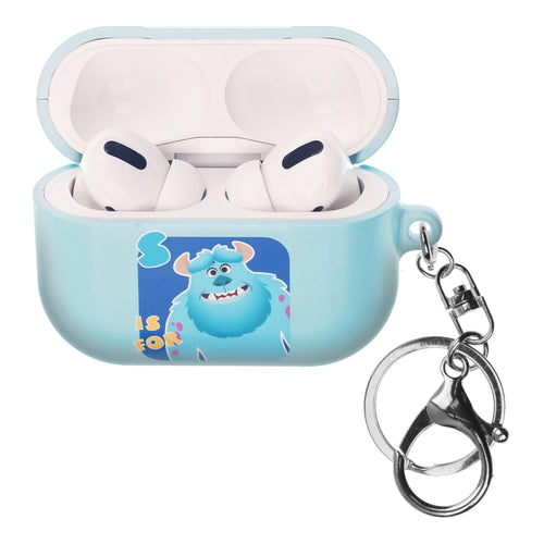 Disney AirPods Pro Case Key Ring Keychain Key Holder Hard PC Shell Strap Hole Cover - Monsters Sulley