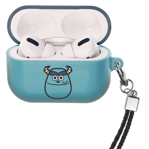 Disney AirPods Pro Case Neck Lanyard Hard PC Shell Strap Hole Cover - Monsters Smile Sulley