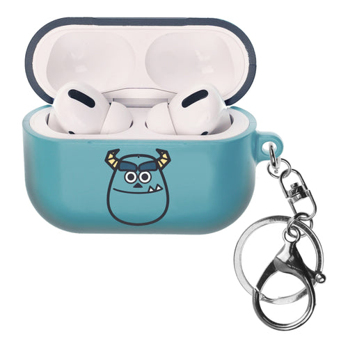 Disney AirPods Pro Case Key Ring Keychain Key Holder Hard PC Shell Strap Hole Cover - Monsters Smile Sulley