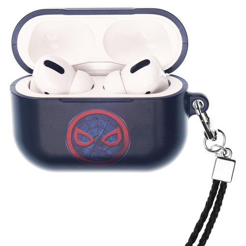 Marvel Avengers AirPods Pro Case Neck Lanyard Hard PC Shell Strap Hole Cover - Symbol Spider Man