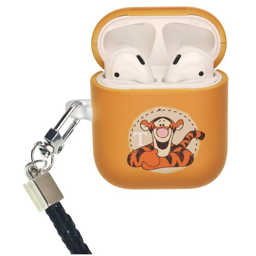 Disney AirPods Case Neck Lanyard Protective Hard PC Shell Strap Hole Cover - Tigger