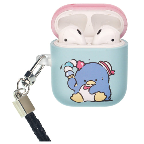 Sanrio AirPods Case Neck Lanyard Protective Hard PC Shell Strap Hole Cover - Tuxedosam