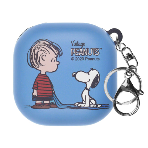 Peanuts Galaxy Buds Live Case (2020) Key Ring Keychain Key Holder Hard PC Shell Cover - With Snoopy Linus