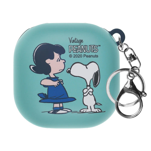 Peanuts Galaxy Buds Live Case (2020) Key Ring Keychain Key Holder Hard PC Shell Cover - With Snoopy Lucy