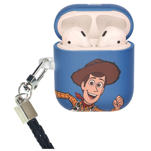 Disney AirPods Case Neck Lanyard Protective Hard PC Shell Strap Hole Cover - Toy Story Woody