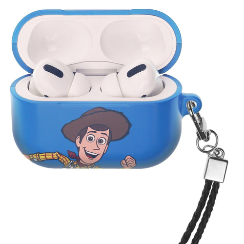Disney AirPods Pro Case Neck Lanyard Hard PC Shell Strap Hole Cover - Toy Story Woody