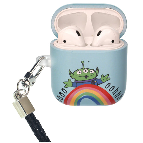 Disney AirPods Case Neck Lanyard Protective Hard PC Shell Strap Hole Cover - Words Aliens