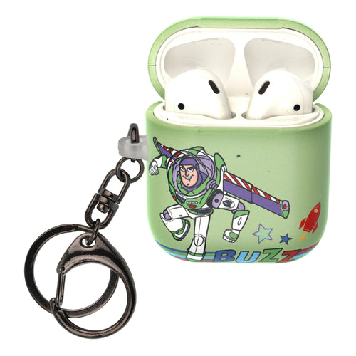 Disney AirPods Case Key Ring Keychain Key Holder Hard PC Shell Strap Hole Cover [Front LED Visible] - Words Buzz