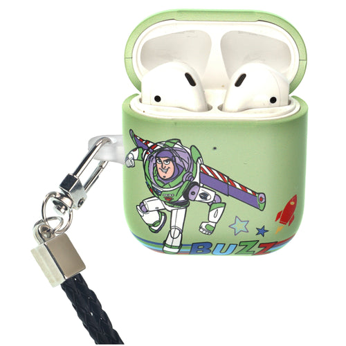 Disney AirPods Case Neck Lanyard Protective Hard PC Shell Strap Hole Cover - Words Buzz