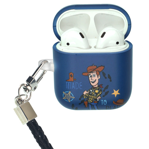 Disney AirPods Case Neck Lanyard Protective Hard PC Shell Strap Hole Cover - Words Woody