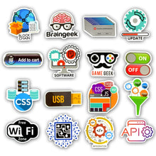 Load image into Gallery viewer, Programing Stickers 50pcs
