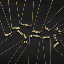 Load image into Gallery viewer, Zodiac Sign Astrology Necklace