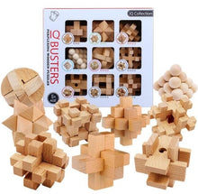 Load image into Gallery viewer, Classic IQ Puzzle Mind Brain Teaser 2D 3D Wooden Puzzles Educational Game for Adults Children