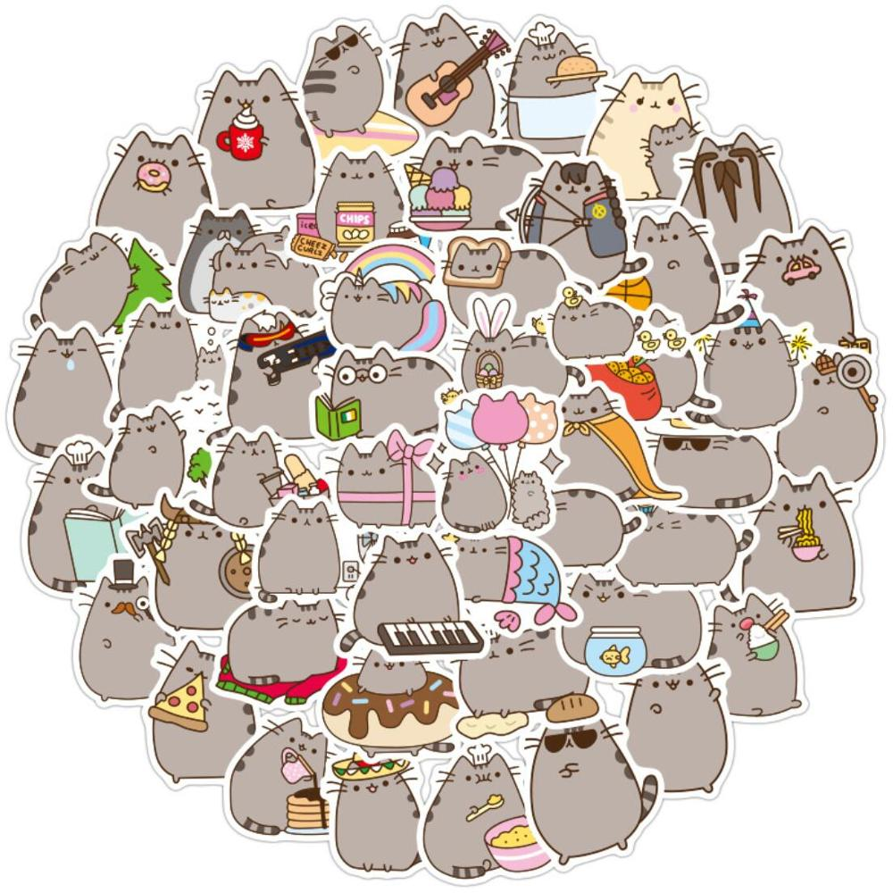 Chunky Cat Stickers 100pcs