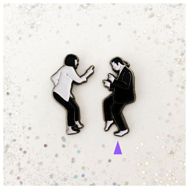 Pulp Fiction Enamel Pin Set Lapel Pins Badge