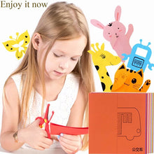 Load image into Gallery viewer, Children Cartoon DIY Colorful Paper Cutting Folding