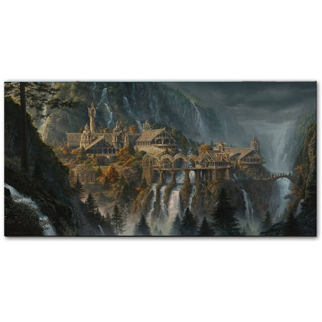 Lord of The Rings Rivendell Fairyland Wall Art