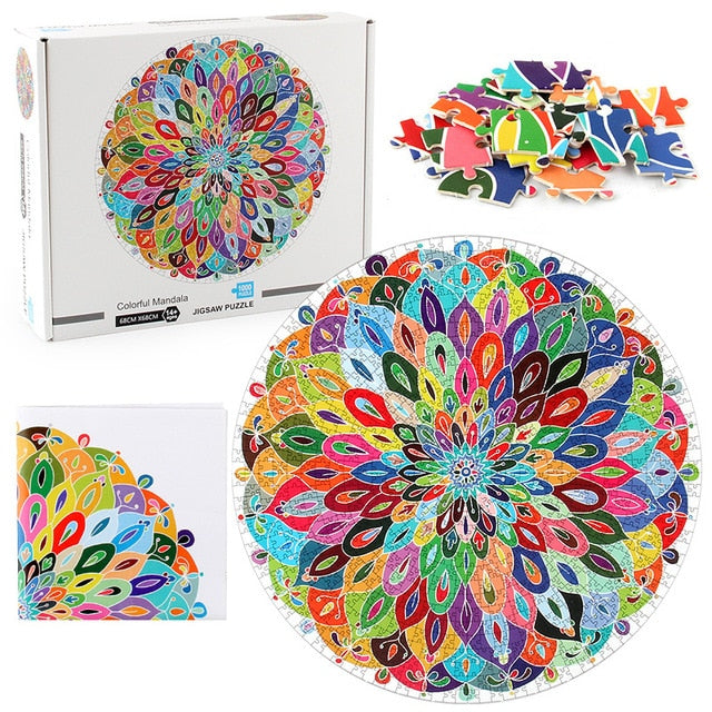 Mandala Jigsaw Puzzle 1000 Piece Puzzles  26.8 * 26.8 inches