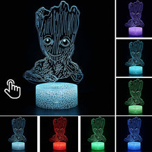 Load image into Gallery viewer, Marvel Avengers Groot Anime 3D LED Lamp