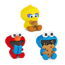 Load image into Gallery viewer, big vird, cookie monster and elmo Mini Building Blocks