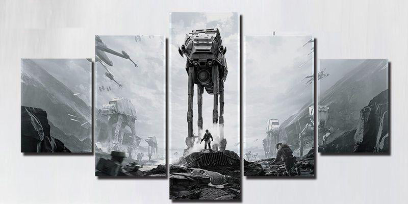 StarWars Game Poster 5 Panels