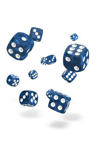 Oakie Doakie Dice D6 Dice 12 mm Marble - Blue (36)