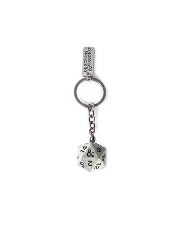 Dungeons & Dragons 3D D20 Keychain