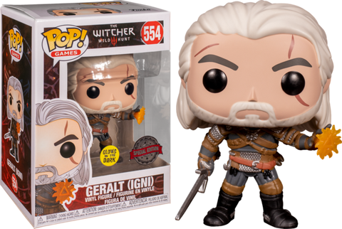 Witcher 3 - Geralt Glow In The Dark Exclusive Funko Pop!