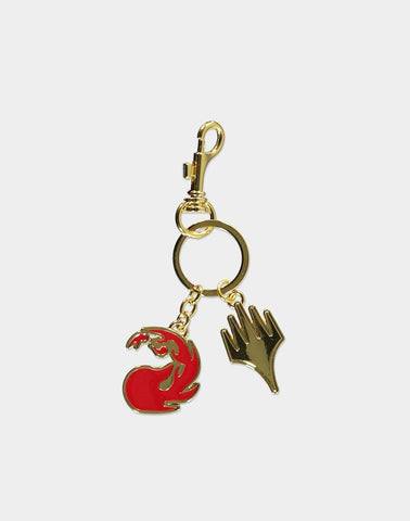 Magic: The Gathering Red Mana Symbol Keychain