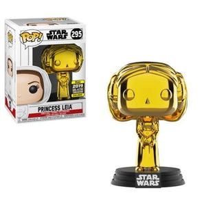 Star Wars - Princess Leia (Gold Chrome) Galactic Convention 2019 Exclusive Funko POP!