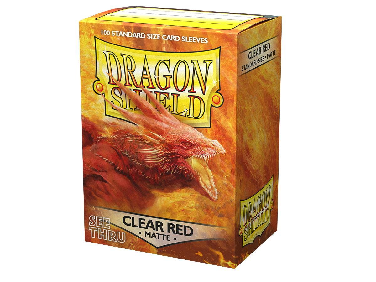 Dragon Shield - Clear Red Matt Sleeves (100pc)