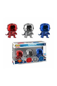 Justice League - 3 Pack Superman Landing (Chrome) Exclusive Funko POP!