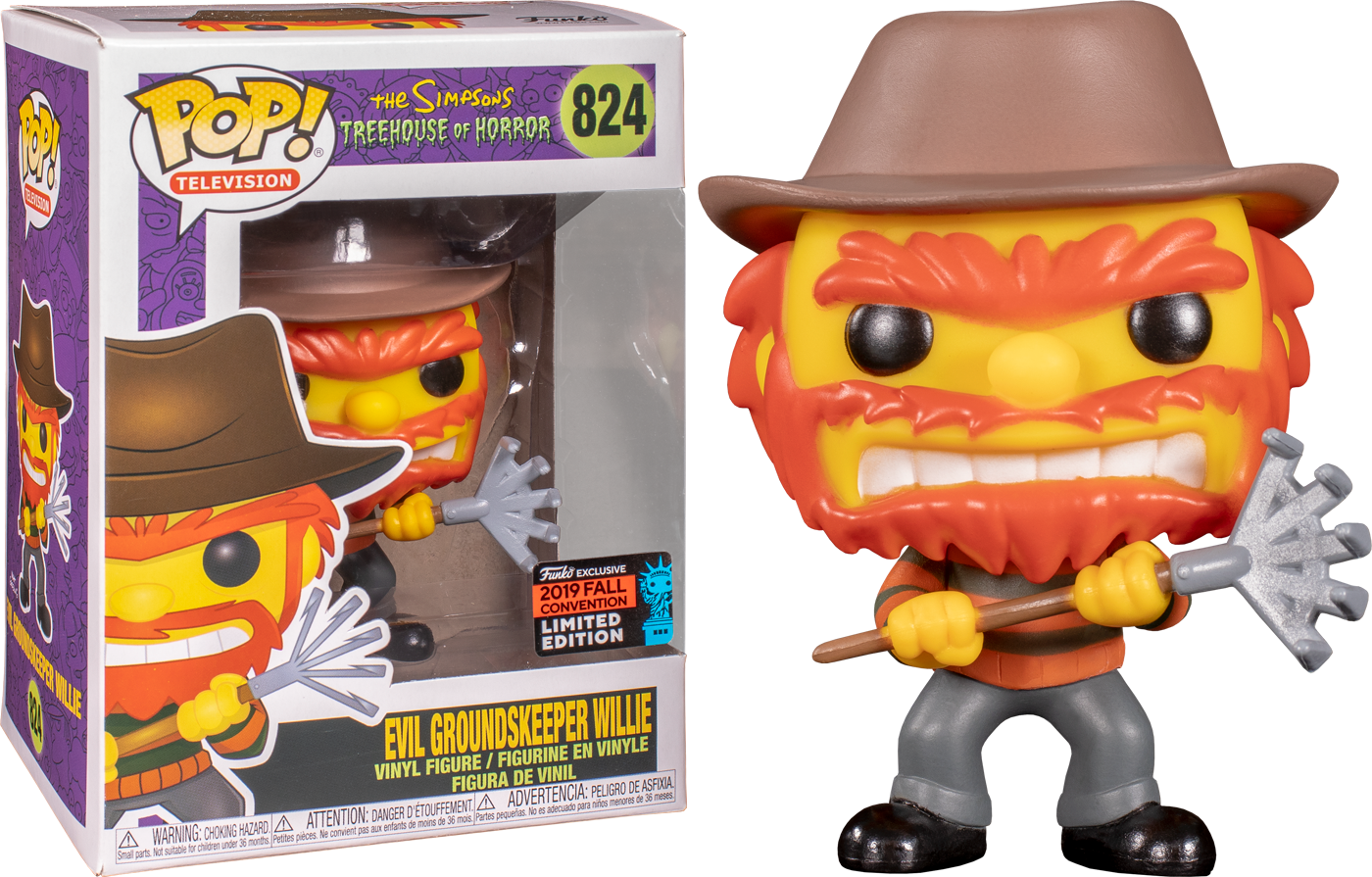 The Simpsons - Groundskeeper Willie As Freddie Kruegar Fall 2019 Exclusive Funko POP!