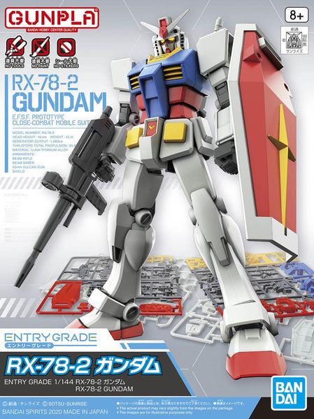 Gundam Model Kit - Entry Grade Gundam RX-78-2 1/144