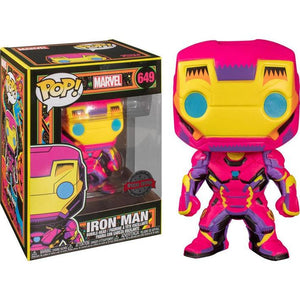 Marvel Black Light Series - Iron Man Exclusive Funko POP!