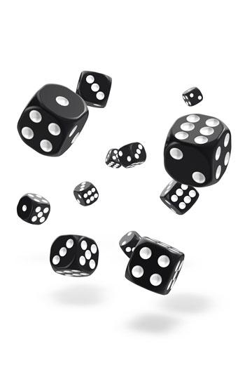 Oakie Doakie D6 Dice 12mm Solid - Black