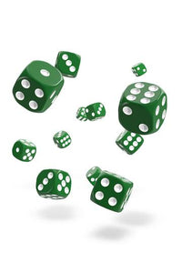 Oakie Doakie D6 Dice 12mm Solid - Green