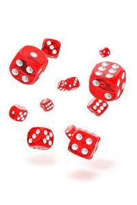 Oakie Doakie D6 Dice 12mm Translucent - Red