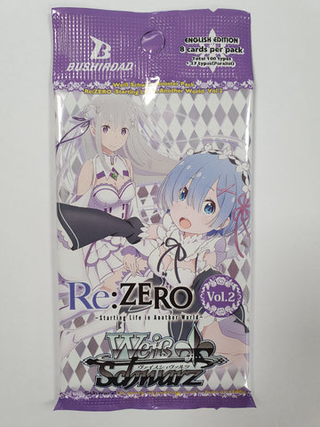 Weiss Schwarz Re:Zero Starting Life In Another World Vol.2 Booster Pack