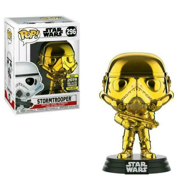 Star Wars - Stormtrooper (Gold Chrome) Galactic Convention 2019 Exclusive Funko POP!