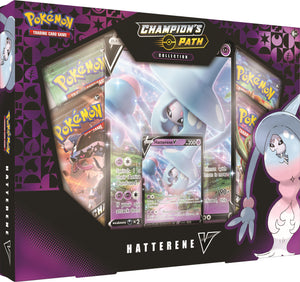 Pokemon Champion's Path Hatterene V-Box Collection